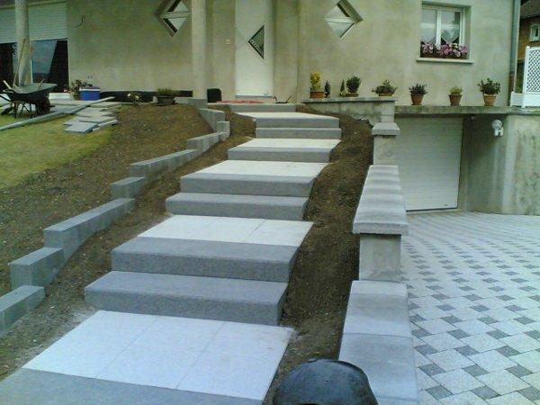 Paysagiste palmay murets for Bloc marche escalier